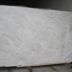 Royal Stone & Tile Slab Yard in Los Angeles - Perla Venato Quartzite slabs at Royal Stone & Tile in Los Angeles