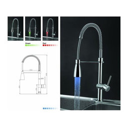 LED Kitchen Faucet - Features: