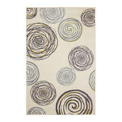 Mohawk Rugs - Mohawk Free Flow 11717 Cream 5' x 8' Area Rugs - Mohawk Free Flow 11717 Cream 5' x 8' Area Rugs