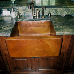 French Gothic Revival Kitchen Remodel - Copper farmhouse sink