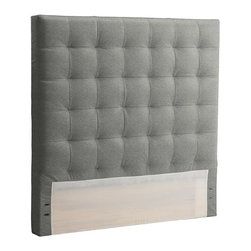 Tall Grid Tufted Headboard - A headboard will be the focal point of your room and will tie everything together nicely. I like this one from West Elm.