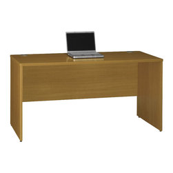 "BBF - Bush Quantum 60""W Credenza Shell in Modern Cherry Finish - Bush - Computer Desks - QT4601MC - Features high-performance Diamond Coat� top surfaces--one of the most durable finishes in commercial office furniture, Diamond Coat features superior scratch, abrasion and stain resistance."