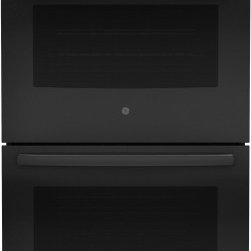 "GE - JT5500DFBB 30"" Built-In Electric Double Convection Wall Oven With Self-Clean Hea - Your 30 in Double Electric Wall Oven Self-Cleaning with Convection in Black provides you the best in cooking versatility with a total of 100 cu ft capacity between both the upper and lower ovens"