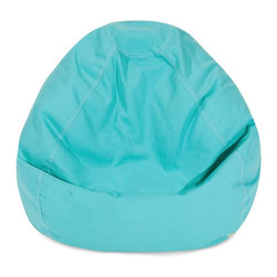 Majestic Home Goods - Teal Small Classic Bean Bag - Now you can kick back and relax anywhere, inside or out, with this comfortable and supportive Reading Pillow. The Majestic Home Goods Indoor/Outdoor Teal Reading Pillow provides back and head support that is perfect for many activities such as reading, working on your laptop or lounging with friends. Stuffed with a super loft recycled polyester fiber fill, the reading pillows zippered slipcover is woven from Outdoor Treated polyester and has up to 1000 hours of U.V. protection.  Spot clean slipcover with mild detergent and hang dry. Do not wash insert.