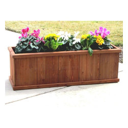 Gran Robusto 48' Rectangular Planter - The extra large 48 inch Gran Robusto is a perfect spot for those tomato or pepper plants and can accommodate fresh ingredients for summer salads or herbs for cooking. Youwon't find planters of this size or quality at your local retailer.