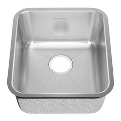 American Standard - Stainless Steel Undermount 16.75 inch x 18.75 inch Single Bowl Kitchen Sink - American Standard 14SB.191700.073 Stainless Steel Undermount 16.75 inch x 18.75 inch Single Bowl Kitchen Sink in Brushed Stainless Steel.