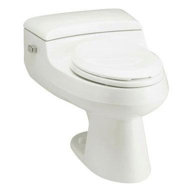 KOHLER - KOHLER K-3597-0 San Raphael Comfort Height One-Piece Elongated 1.0 GPF Toilet - KOHLER K-3597-0 San Raphael Comfort Height One-Piece Elongated 1.0 GPF Toilet with Pressure Lite Flush Technology and Left-Hand Trip Lever in White