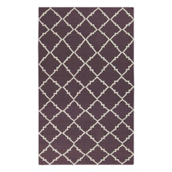 "Surya Rugs - Frontier Prune Purple Rug Size: Runner 2'6"" x 8' - 100% Wool. Rugs Size: 2'6"" x 8'. Note: Image may vary from actual size mentioned."
