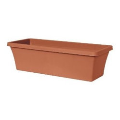 Fiskars 52030C Terrabox Planter, Clay - Simple terracotta clay planters are just perfect for an outdoor cacti grouping. They are lovely for sprucing up a patio.