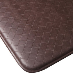"Imprint Comfort Mats - Imprint Cumulus9 Comfort Mat 26 X 48, Cinnamon, 26"" X 48"", Nantucket - Number One Consumer Rated Anti Fatigue Comfort Mat.   Sink your feet into the Cumulus9 with its proprietary Multi-Core Technology. Feel how it conforms to the shape of your feet and supports your arches for relief of back, leg and foot discomfort. The advantage is its proprietary multilayer cushioning system. The soft, upper layer luxuriously cushions your feet while the firm, lower layer provides soothing support. You will want an Imprint Comfort Mat everywhere you work and stand - kitchen, laundry, bathroom, garage, workshop and more. University tested and proven by the Center for Ergonomics to reduce overall fatigue and discomfort by up to 60%. No-curl edges and stay-flat memory ensure Imprint Mats will not  curl like other mats. Environmentally friendly, non-toxic and phthalate free .Safe for children and pets. 7-year warranty. 100% satisfaction guarantee."