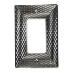Atlas - Mandalay Single Rocker 4.87 in. Switch Plate - Manufacturer SKU: MANPSR-BRN. Projection: 0.125 in.. Made from metal. Brushed nickel color. 4.87 in. L x 3.12 in. W