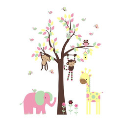 Jungle Animals Wall Decals - PRODUCT DETAILS: