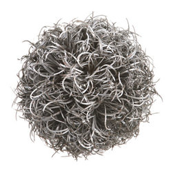 Silk Plants Direct - Silk Plants Direct Curly Grass Ball Ornament (Pack of 3) - Silver - Silk Plants Direct specializes in manufacturing, design and supply of the most life-like, premium quality artificial plants, trees, flowers, arrangements, topiaries and containers for home, office and commercial use. Our Curly Grass Ball Ornament includes the following: