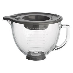 KitchenAid® Stand Mixer Glass Mixer Bowl - Add another bowl to your KitchenAid® mixer, a microwave-safe one with calibrated measurements, comfortable handle and convenient snap-top lid with pouring spout. Heavy-duty glass bowl with both standard and metric measurements fits all classic to artisan tilt-head platform models.