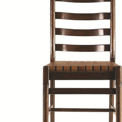 Classic Portfolio chair - The classic ladderback thrives. Behold our version in the Ladderback Side Chair, updated to suit today's needs. Beautifully aged finishes and a woven belt leather seat that will gain character with each passing year.