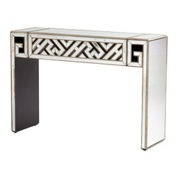 Cyan Design 05940 Deco Divide Mirrored Glass Console Table - Cyan Design 05940 Deco Divide Mirrored Glass Console Table