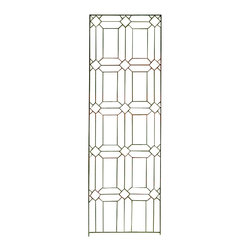 H Potter - Diamond Trellis - Large - Evoking the look of stained-glass window frames in a church, this trellis design features a beautiful pattern of diamonds and rectangles. Its thin appearance allows you to notice it, without becoming overwhelming to your space.