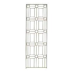 H Potter - Diamond Trellis - Evoking the look of stained-glass window frames in a church, this trellis design features a beautiful pattern of diamonds and rectangles. Its thin appearance allows you to notice it, without becoming overwhelming to your space.