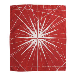 Montauk Compass Rose Hand Towel, Red/White