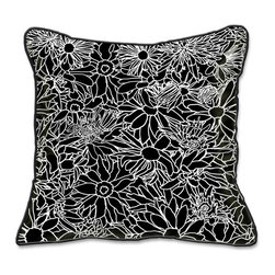 Casart Coverings - Flower Power Pillow Slipcover - Reversible, all-weather, washable pillow slipcover