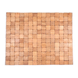 Entryways - Mather Exotic Wood Mat - Brown 18x30 - Crafted of exotic wood, this handsome mat will add an elegant touch to any home. It is from Entryways Exotic Woods collection and meets the industry's highest standards. This design combines natural beauty and durability with surprising affordability.