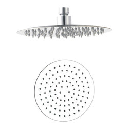 "Aqua - Ultra Thin 8"" Shower Head Chrome - •Swivel function. •Ceiling mount. •1/2"" IPS connections. •Maximum water pressure of 80 ps"