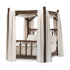 La Lune Collection - Rustic Canopy Bed #4150 by La Lune Collection - Rustic Canopy Bed (Queen) #4150 by La Lune Collection