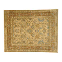300 Kpsi Oriental Rug, 100% Wool 8'X10' Hand Knotted Zero Pile Tabriz Rug SH7172 - This collection consists of fine knotted rugs.  The knots per square inch means more material in the rug as well as more labor.  This leads to a finer rug and a more expoensive rug.  Classical and traditional persian motifs are usually used as designs in these rugs.