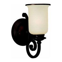 Sea Gull Lighting - 1-Light Wall / Bath Misted Bronze - 41145-814 Sea Gull Lighting Acadia 1-Light Wall / Bath with a Misted Bronze Finish