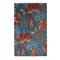 Mohawk Home - Mohawk New Wave Whinston Multi Floral Paisley 5' x 8' Rug (11692) - Cutting edge and beautifully designed, this paisley pattern is an explosion of color and style. Meant for a bold impact, this design creates a vivid center point for your design. Printed on the same machines that manufacture one of the world