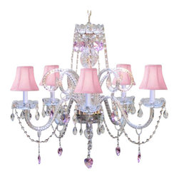 Gallery - Gallery T40-416 5 Light 1 Tier Crystal Chandelier - Features: