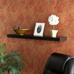 Upton Home - Upton Home Tampa 36-inch Black Floating Shelf - Display photos,plants,collectibles,and more on this cute floating wall shelf that hangs without any visible means of support. This 36-inch shelf can hold up to 30 pounds,so you can load it up with plenty of your favorite family heirlooms.