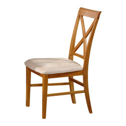 Atlantic Furniture - Atlantic Furniture Lexington Side Chair in Caramel Latte (Set of 2) - Atlantic Furniture - Dining Chairs - AD772107 - The Atlantic Furniture Lexington Dining Side Chairs are constructed from Eco-friendly solid hardwood and have an elegant Caramel Latte wood finish. This set of two dining side chairs feature a cross back design and an Oatmeal colored seat cushion. The Lexington Dining Side Chairs are perfect for a casual dining room setting.