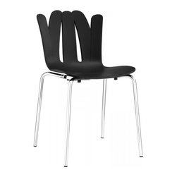 Modway Imports - Modway EEI-1496-BLK Flare Dining Side Chair In Black - Modway EEI-1496-BLK Flare Dining Side Chair In Black