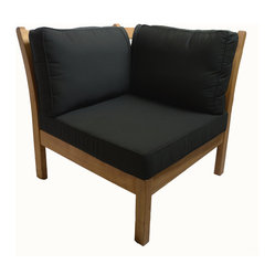 Kamea Corner With Black Cushions