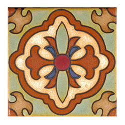 Terracotta Accent Tile - I love using tile samples as coasters on my desk. Use a glue gun to secure a piece of felt to the back and you have a stylish place to put your coffee!