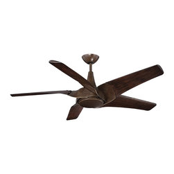 """Savoy House - Indra 58"""" 5 Blade Ceiling Fan - Indra ceiling fans have an innovative design that maximizes air movement with style. The striking Walnut finish is rich and timeless."""