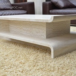 """ORIGAMI 51""""x27""""x14"""" TRAVERTINE MARBLE COFFEE TABLE - Reference: CT205"""