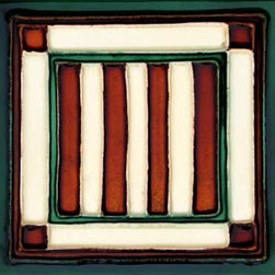 """Glass Tile Oasis - Bandera 6"""" x 6"""" Green 6"""" x 6"""" Deco Tiles Glossy Ceramic - All ceramic tiles are hand painted. Glazed thickness will vary from tile to tile, resulting in color variation. Hand-Painted Ceramic tiles will craze and crackle over time, which is intentional and a desired effect."""