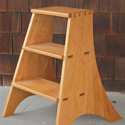 Cherry Library Ladder - This one is perfect for the shorter stacks.
