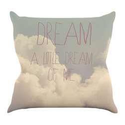"""Kess InHouse - Rachel Burbee """"Dream of Me"""" Tan White Throw Pillow (18"""" x 18"""") - Rest among the art you love. Transform your hang out room into a hip gallery, that's also comfortable. With this pillow you can create an environment that reflects your unique style. It's amazing what a throw pillow can do to complete a room. (Kess InHouse is not responsible for pillow fighting that may occur as the result of creative stimulation)."""