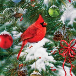 Nature's Ornament Puzzle - 1000 Piece Jigsaw PuzzleDon't confuse feathers with festive decorations while you piece this puzzle together! The cardinal looks so plump and happy     somebody must be feeding him year round.