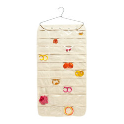 Canvas 80-pocket Hanging Jewelry Organizer - With this hanging jewelry storage, you don't have to go rummaging every time you need that pair of earrings. The added bonus? It's no thicker than a blazer hanging in your closet.