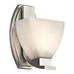 Kichler Lighting - Kichler Lighting 45113NI Claro Brushed Nickel Wall Sconce - Kichler Lighting 45113NI Claro Brushed Nickel Wall Sconce