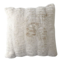 Horchow - Faux Fur Accent Pillows - Oversized and incredibly plush, these faux-fur pillows encourage snuggling—and make a great textural statement on the sofa or bed. Soft, realistic faux fur is made of fine Kaneceron® acrylic. Removable cover is machine washable. Lined with....