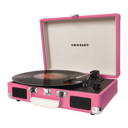 You Spin Me Around Turntable in Pink - Even though it's a cinch to download a song these days, there's nothing like an old turntable. You just can't get the same quality of music as on a record. And the gorgeous hue will keep you dancing.