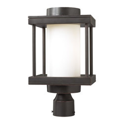 PLC Lighting - PLC 1 Light Outdoor Post Mount Light Catalina Collection 31875/CFL ORB - -Finish: Oil Rubbed Bronze