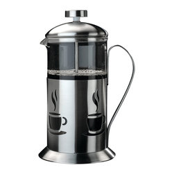 Berghoff - Berghoff Cook & Co. French Press 2.5 Cup - French presses, commonly referred to as coffee plungers create a smooth, pure coffee flavor. For best results use coarse ground coffee, just pour and serve. Makes 2 1/2 cups. Constructed of stainless steel with a decorative finish and glass carafe.