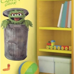 Roommates - Roomates Sesame Street Giant Oscar the Grouch Wall Decal - Even a grouch wants to look good in photos, so Oscar puts on a big smile for this larger than life, colorful, vibrant and fun peel and stick wall decal!