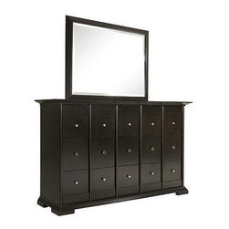 Broyhill - Perspectives Drawer Dresser And Rectangular Mirror - 4444-230-238 - Includes Drawer Dresser and Rectangular Mirror